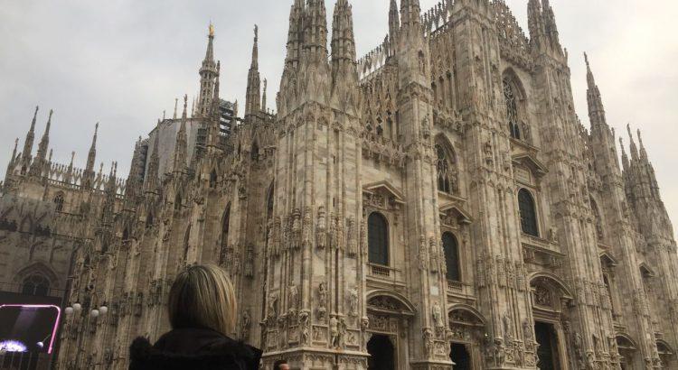 Vista da Catedral de Milão (Duomo)