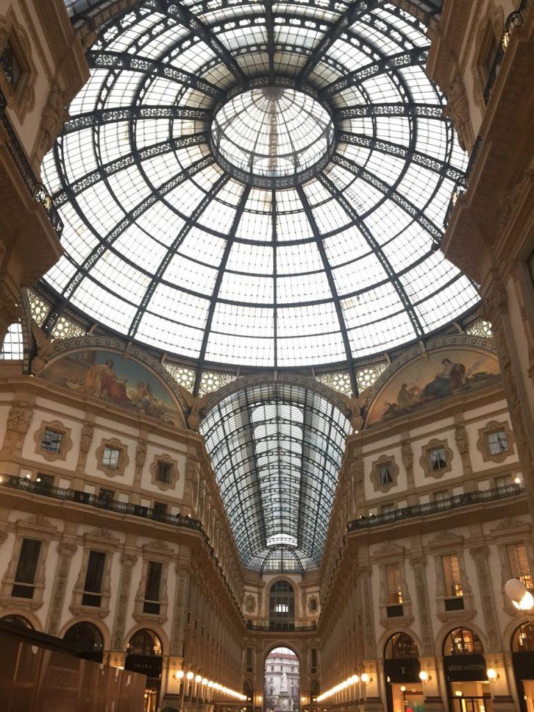 Cúpula de vidro da Galeria Victorio Emanuelle