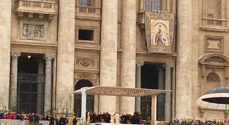 Palco da Audiência com o Papa