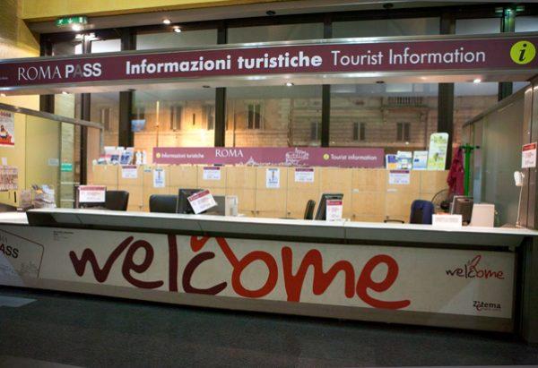 Posto de Informação Turística de Roma. Fonte: romatermini.com