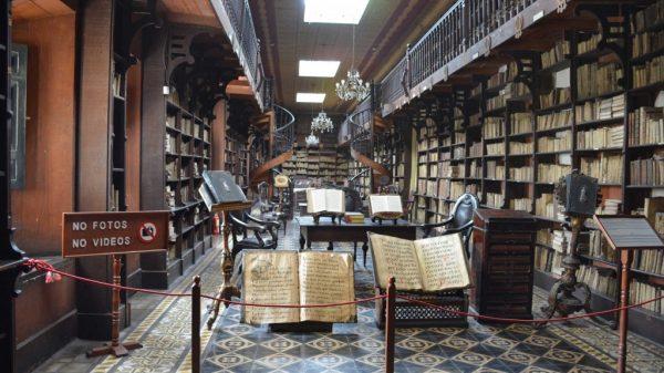 Biblioteca do Museu de San Francisco. Foto: museocatacumbas.com
