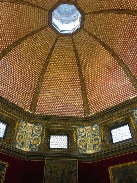 Teto de uma das salas da Galleria Uffizi