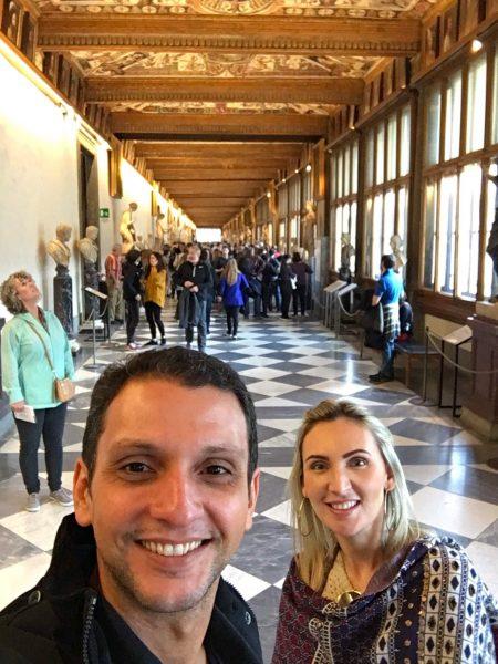 Corredor da Galleria Uffizi