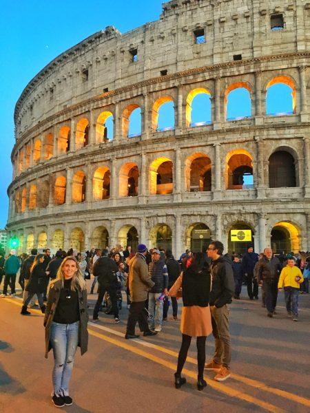 Coliseu iluminado
