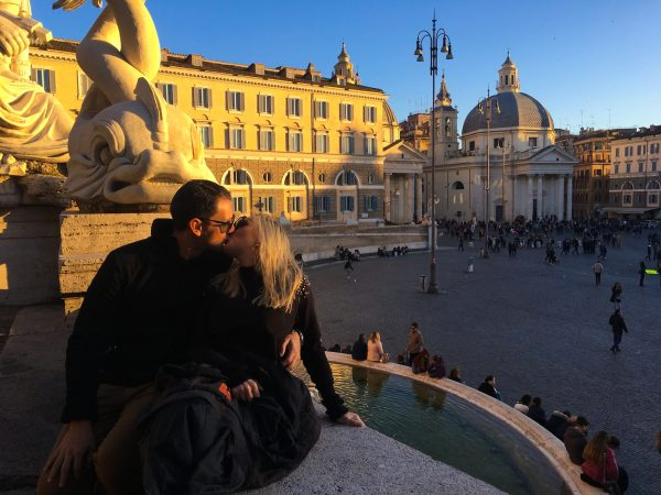 Pôr do Sol na Piazza del Popolo