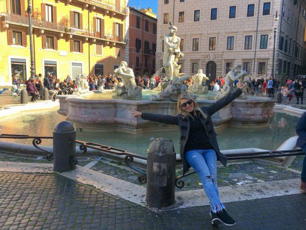 Fonte na Piazza Navona, em Roma