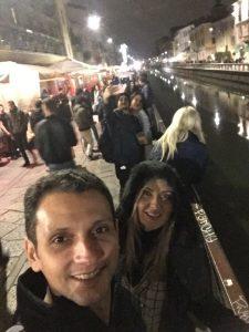 Nós no Canal Naviglio Grande