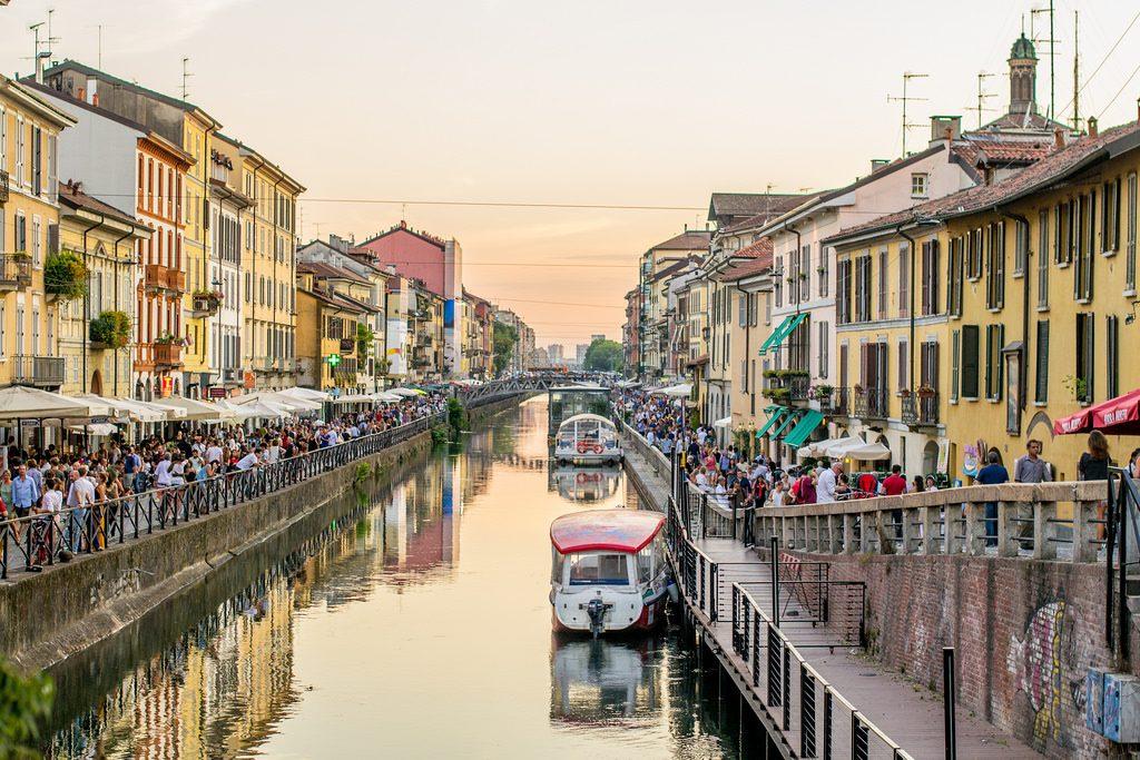 Canal Naviglio Grande. Crédito da foto: Francesco Cirigliano