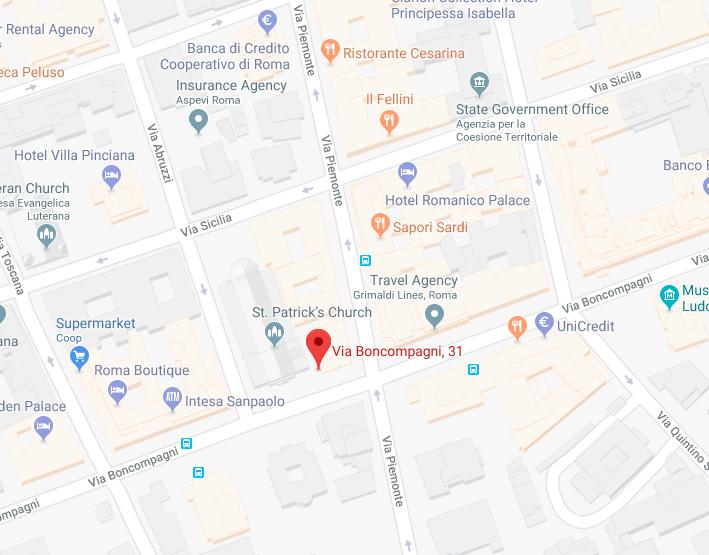 Localização no Google Maps da Igreja de Saint Patrick