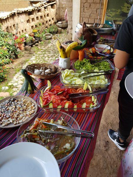 Almoço na Laguna Humantay