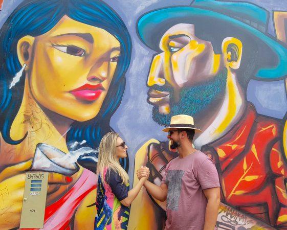 Grafites no Bairro Barranco, em Lima
