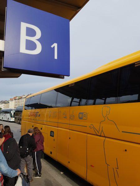 Ônibus chegou na hora marcada
