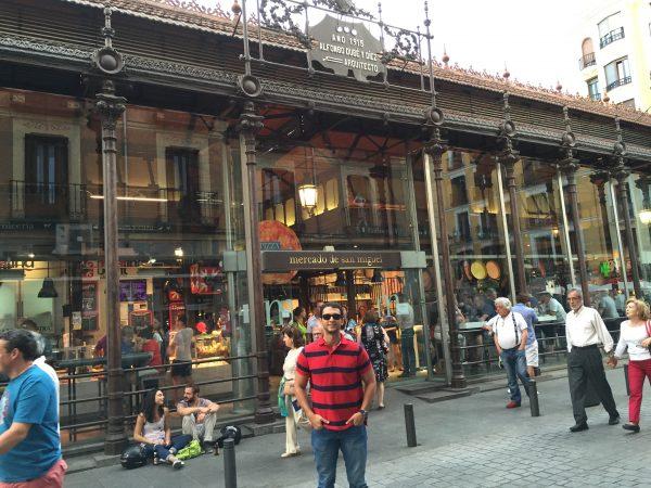 Exterior do Mercado de San Miguel, em Madrid