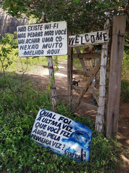 Entrada ao Parque Estadual da Pedra da Boca