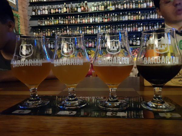 Tábua de Degustação da Cervejaria Barbarian, em Lima
