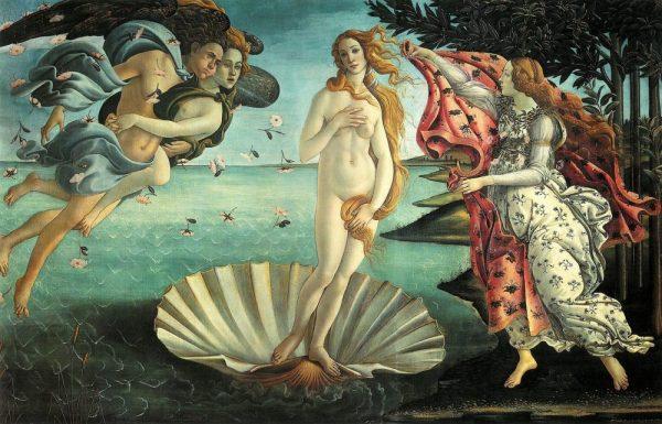 O nascimento de Vênus, de Boticcelli