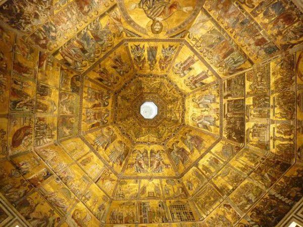Foto do teto do Batistério, em frente ao Duomo. Foto: visitflorence.com