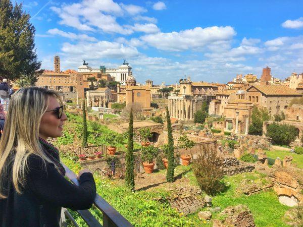 Vista do Forum Romano, na Colina Palatino