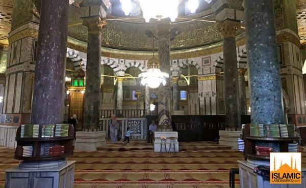 Interior do Domo da Rocha. Fonte: Islamic Landmarks